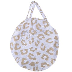 Skin5 White Marble & Sand Giant Round Zipper Tote by trendistuff