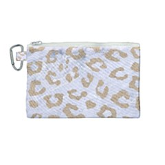 Skin5 White Marble & Sand Canvas Cosmetic Bag (medium) by trendistuff