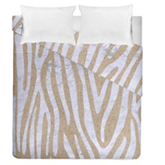 Skin4 White Marble & Sand (r) Duvet Cover Double Side (queen Size) by trendistuff