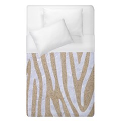 Skin4 White Marble & Sand (r) Duvet Cover (single Size) by trendistuff