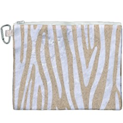 Skin4 White Marble & Sand (r) Canvas Cosmetic Bag (xxxl) by trendistuff