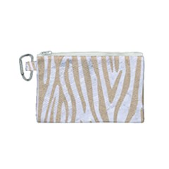 Skin4 White Marble & Sand Canvas Cosmetic Bag (small)