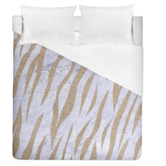 Skin3 White Marble & Sand (r) Duvet Cover (queen Size) by trendistuff