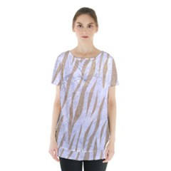 Skin3 White Marble & Sand (r) Skirt Hem Sports Top by trendistuff