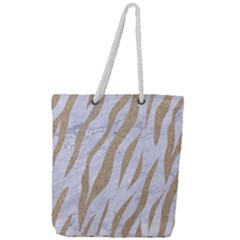 Skin3 White Marble & Sand (r) Full Print Rope Handle Tote (large) by trendistuff