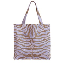 Skin2 White Marble & Sand (r) Zipper Grocery Tote Bag by trendistuff