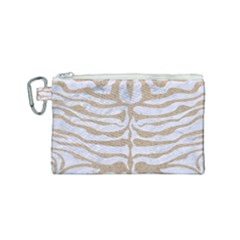 Skin2 White Marble & Sand (r) Canvas Cosmetic Bag (small) by trendistuff