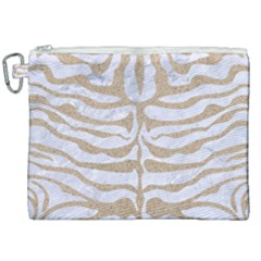 Skin2 White Marble & Sand (r) Canvas Cosmetic Bag (xxl) by trendistuff
