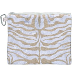 Skin2 White Marble & Sand (r) Canvas Cosmetic Bag (xxxl)