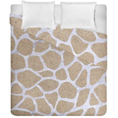 Skin1 White Marble & Sand (r) Duvet Cover Double Side (california King Size) by trendistuff