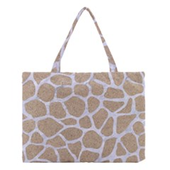 Skin1 White Marble & Sand (r) Medium Tote Bag by trendistuff