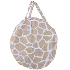 Skin1 White Marble & Sand (r) Giant Round Zipper Tote by trendistuff