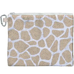 Skin1 White Marble & Sand (r) Canvas Cosmetic Bag (xxxl) by trendistuff