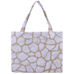 Skin1 White Marble & Sand Mini Tote Bag by trendistuff