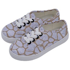 Skin1 White Marble & Sand Kids  Classic Low Top Sneakers by trendistuff