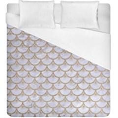 Scales3 White Marble & Sand (r) Duvet Cover (king Size) by trendistuff