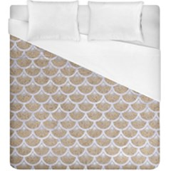 Scales3 White Marble & Sand Duvet Cover (king Size) by trendistuff
