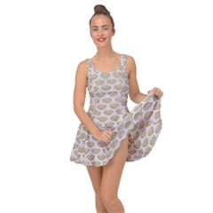 Scales3 White Marble & Sand Inside Out Dress