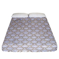 Scales2 White Marble & Sand (r) Fitted Sheet (california King Size) by trendistuff