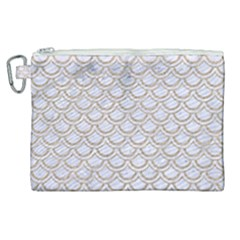 Scales2 White Marble & Sand (r) Canvas Cosmetic Bag (xl) by trendistuff