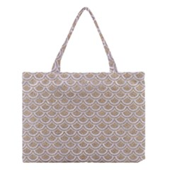 Scales2 White Marble & Sand Medium Tote Bag by trendistuff