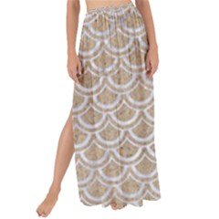 Scales2 White Marble & Sand Maxi Chiffon Tie Up Sarong