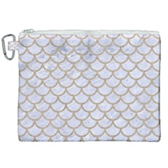 Scales1 White Marble & Sand (r) Canvas Cosmetic Bag (xxl) by trendistuff