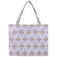 Royal1 White Marble & Sand Mini Tote Bag by trendistuff