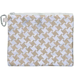 Houndstooth2 White Marble & Sand Canvas Cosmetic Bag (xxxl) by trendistuff