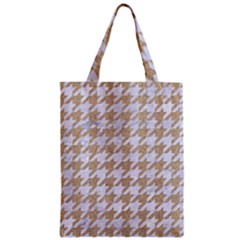 Houndstooth1 White Marble & Sand Zipper Classic Tote Bag by trendistuff