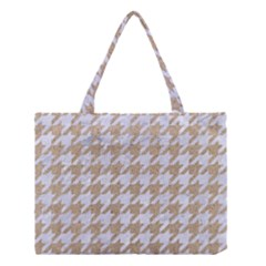 Houndstooth1 White Marble & Sand Medium Tote Bag by trendistuff