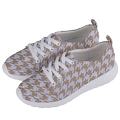 Houndstooth1 White Marble & Sand Women s Lightweight Sports Shoes by trendistuff