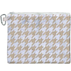 Houndstooth1 White Marble & Sand Canvas Cosmetic Bag (xxxl) by trendistuff