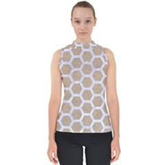 Hexagon2 White Marble & Sand Shell Top by trendistuff
