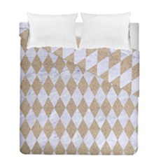 Diamond1 White Marble & Sand Duvet Cover Double Side (full/ Double Size) by trendistuff