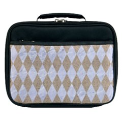 Diamond1 White Marble & Sand Lunch Bag by trendistuff