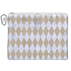 Diamond1 White Marble & Sand Canvas Cosmetic Bag (xxl) by trendistuff