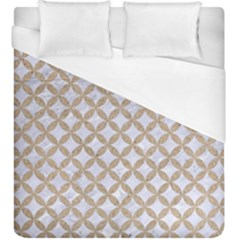 Circles3 White Marble & Sand (r) Duvet Cover (king Size) by trendistuff