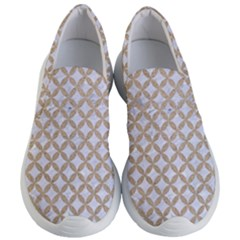 Circles3 White Marble & Sand (r) Women s Lightweight Slip Ons by trendistuff