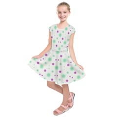 Stars Motif Multicolored Pattern Print Kids  Short Sleeve Dress by dflcprints