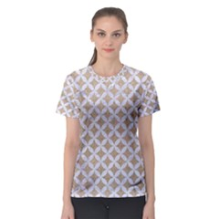 Circles3 White Marble & Sand Women s Sport Mesh Tee by trendistuff