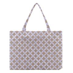Circles3 White Marble & Sand Medium Tote Bag by trendistuff