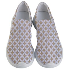 Circles3 White Marble & Sand Women s Lightweight Slip Ons by trendistuff