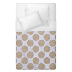 Circles2 White Marble & Sand (r) Duvet Cover (single Size) by trendistuff