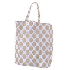 Circles2 White Marble & Sand (r) Giant Grocery Zipper Tote by trendistuff