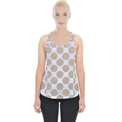 Circles2 White Marble & Sand (r) Piece Up Tank Top by trendistuff