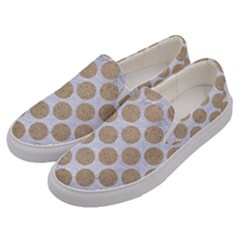 Circles2 White Marble & Sand (r) Men s Canvas Slip Ons by trendistuff