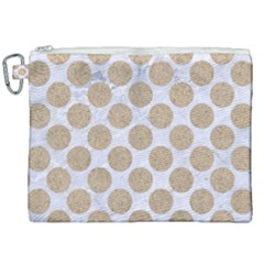 Circles2 White Marble & Sand (r) Canvas Cosmetic Bag (xxl) by trendistuff