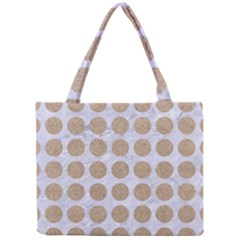 Circles1 White Marble & Sand (r) Mini Tote Bag by trendistuff