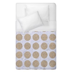 Circles1 White Marble & Sand (r) Duvet Cover (single Size) by trendistuff